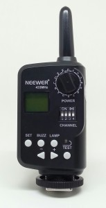 The FT16 transmitter allows you to remotely turn the power up and down on up to 16 groups of flashes. Power can be changed in 1/3 stop increments from 1/1 full power down to 1/128 power. Individual groups can also be turned off remotely.