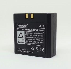 The 11.1v lithium ion battery provides up to 650 full power flashes at a recycle time of 1.5 seconds. The battery can be fully recharged in 2 hours.